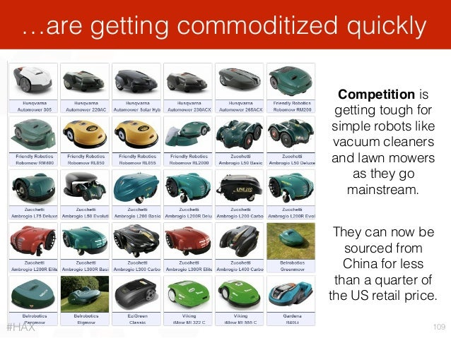 …are getting commoditized quickly 109 They can now be sourced from China for less than a quarter of the US retail price. ...