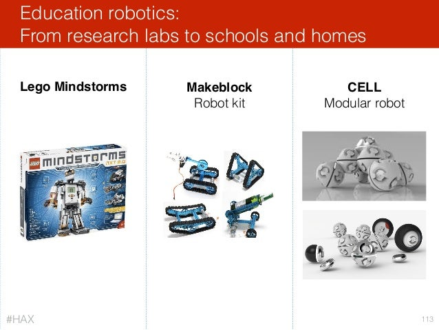 Education robotics: From research labs to schools and homes 113 Lego Mindstorms Makeblock Robot kit CELL Modular robot #H...