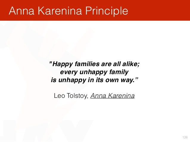 """126 """"Happy families are all alike; every unhappy family is unhappy in its own way."""" Leo Tolstoy, Anna Karenina Anna Kare..."""