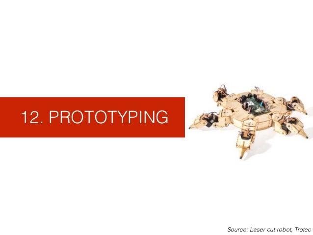 12. PROTOTYPING Source: Laser cut robot, Trotec