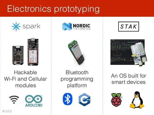 Electronics prototyping An OS built for smart devices Hackable Wi-Fi and Cellular modules Bluetooth programming platform #...