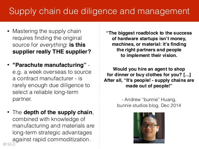 """• Mastering the supply chain requires finding the original source for everything: is this supplier really THE supplier? • """"..."""