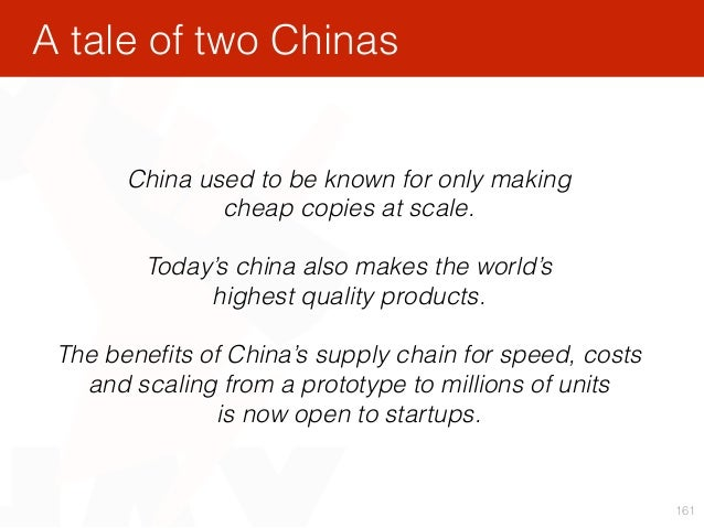 161 China used to be known for only making cheap copies at scale. Today's china also makes the world's highest quality p...