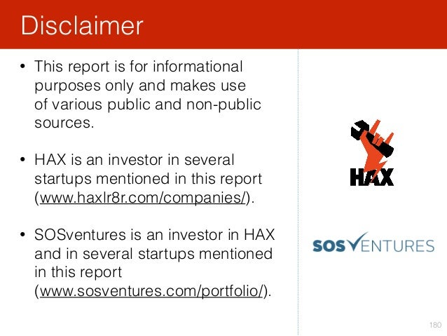 180 • This report is for informational purposes only and makes use of various public and non-public sources. • HAX is an ...