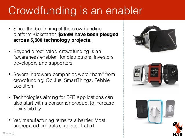 25 • Since the beginning of the crowdfunding platform Kickstarter, $389M have been pledged across 5,500 technology project...