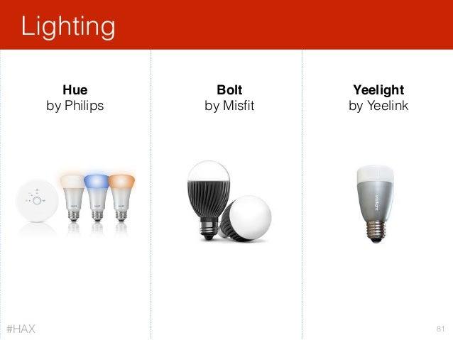 Lighting 81 Hue by Philips Bolt by Misfit Yeelight by Yeelink #HAX