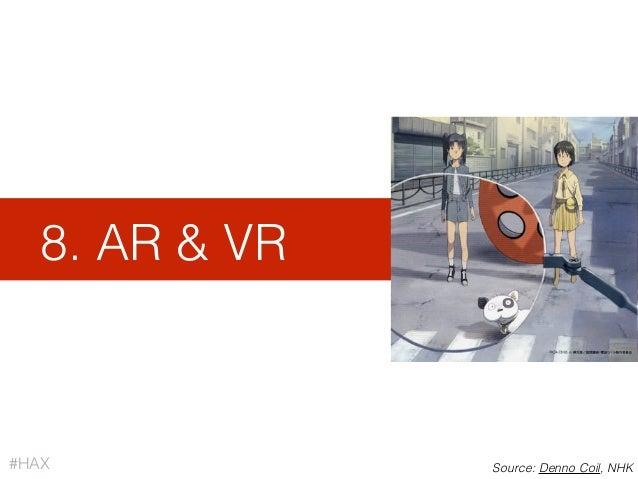 8. AR & VR #HAX Source: Denno Coil, NHK