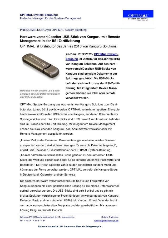 OPTIMAL System-Beratung: Einfache Lösungen für das System-Management  PRESSEMELDUNG von OPTIMAL System-Beratung  Hardware-...