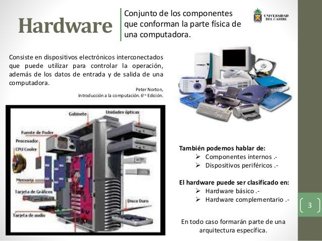 Hardware y software for Informacion sobre la arquitectura