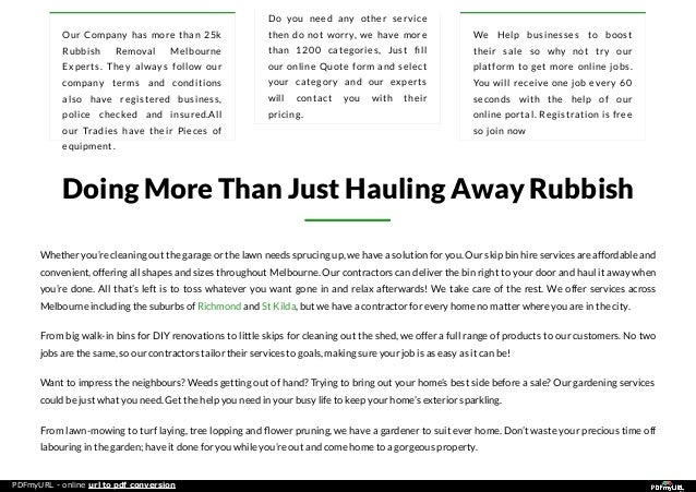 Hard waste management by rubbish removal in melbourne