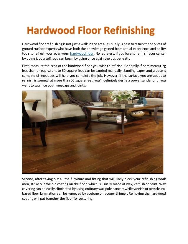 Hardwood Floor Refinishing - How to refresh hardwood floors
