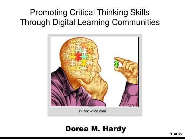 Promoting critical thinking skills