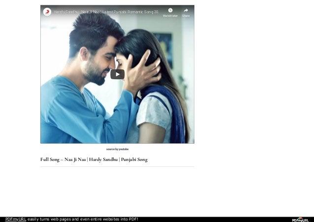 download naa ji naa song by hardy sandhu mp3