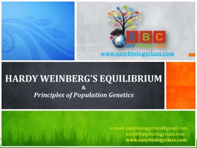 For detailed description of this topic, Please Click on.. http://www.easybiologyclass.com/hardy-weinberg-equilibrium-popul...