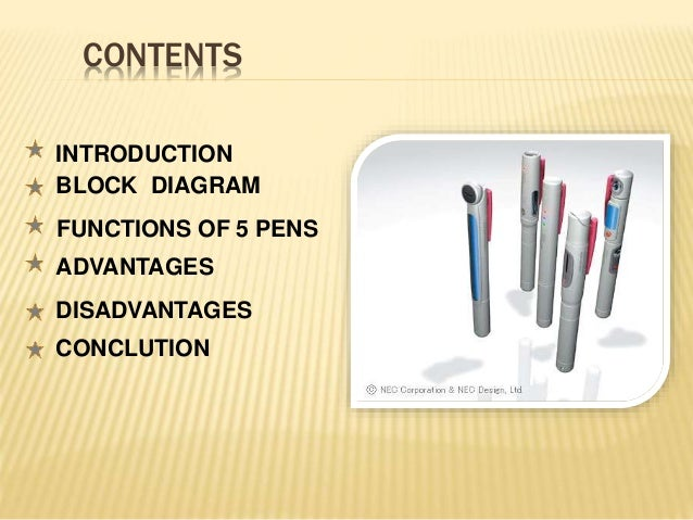 5 Pen Pc Technology