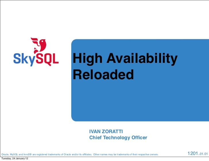 High Availability                                                               Reloaded                                  ...