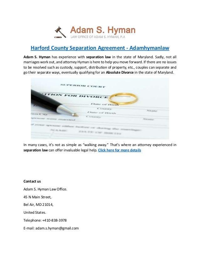 Harford County Separation Agreement Adamhymanlaw