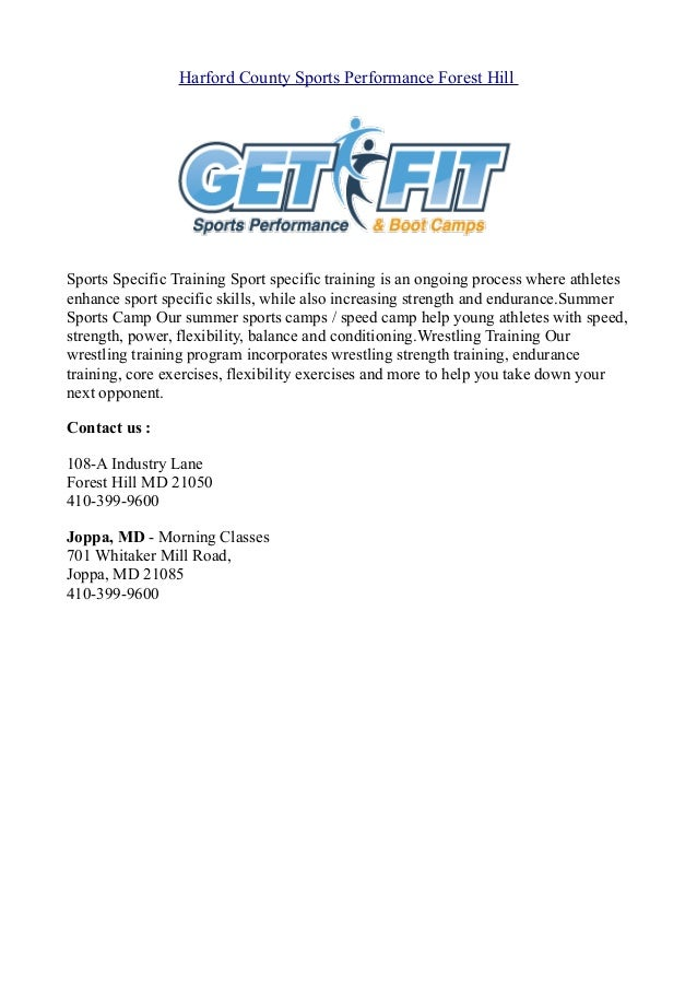 Harford county-sports-performance-forest-hill