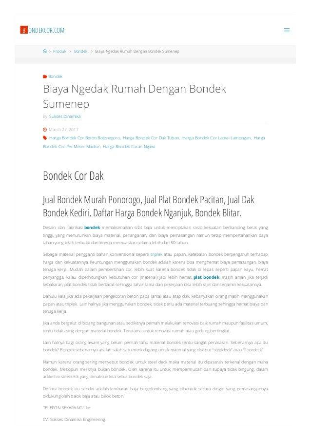 Harga Bondek Lysaght Sidoarjo 081 553 999 767