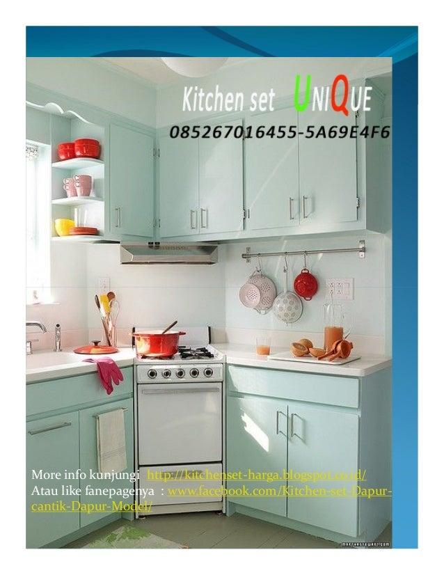 Harga Kitchen Set Dapur Kecil Kitchen Set Minimalis Ruang Sempit Al