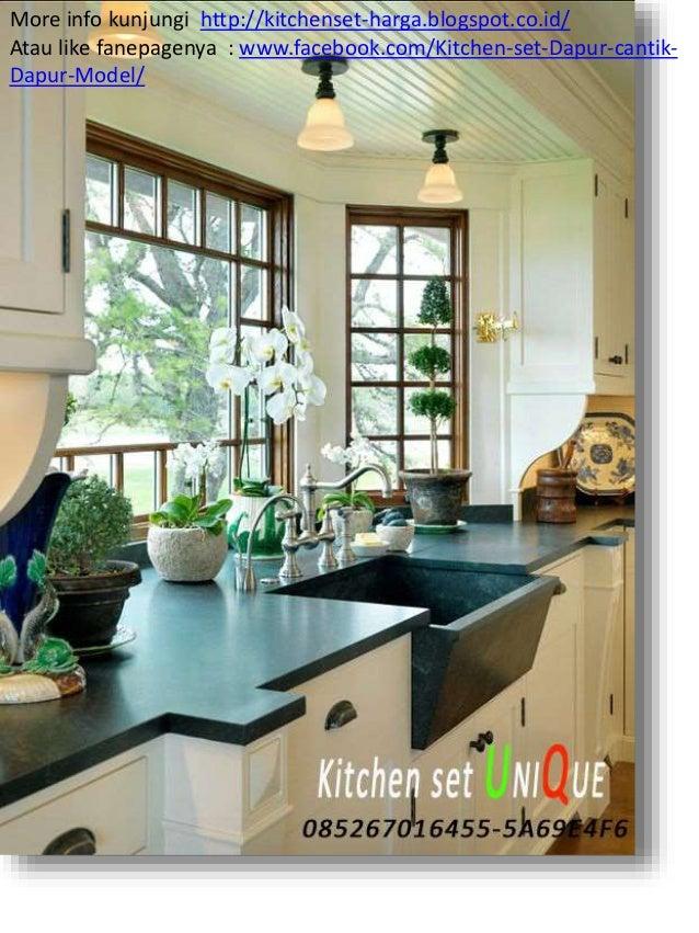 Harga kitchen set dapur kitchen set minimalis meja bar