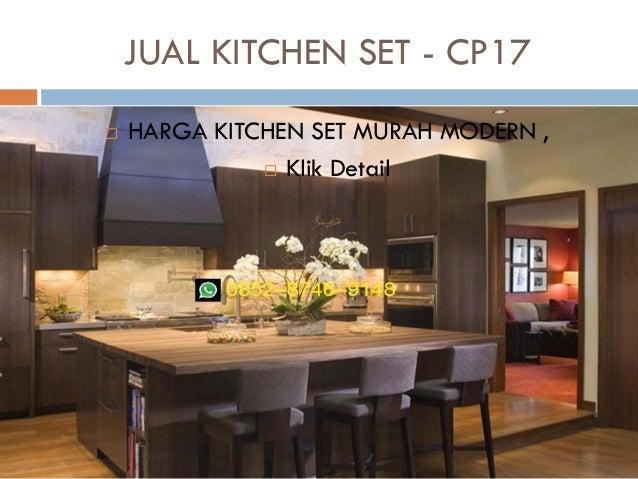 Harga kitchen set murah aluminium for Harga kitchen set sederhana