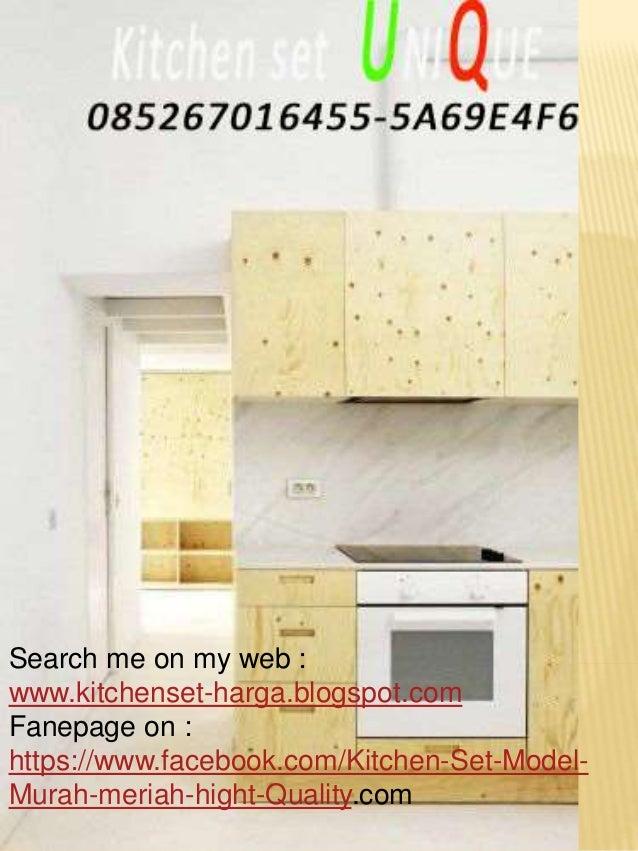 Harga kitchen set murah malang desain dapur kecil tanpa for Harga pembuatan kitchen set per meter