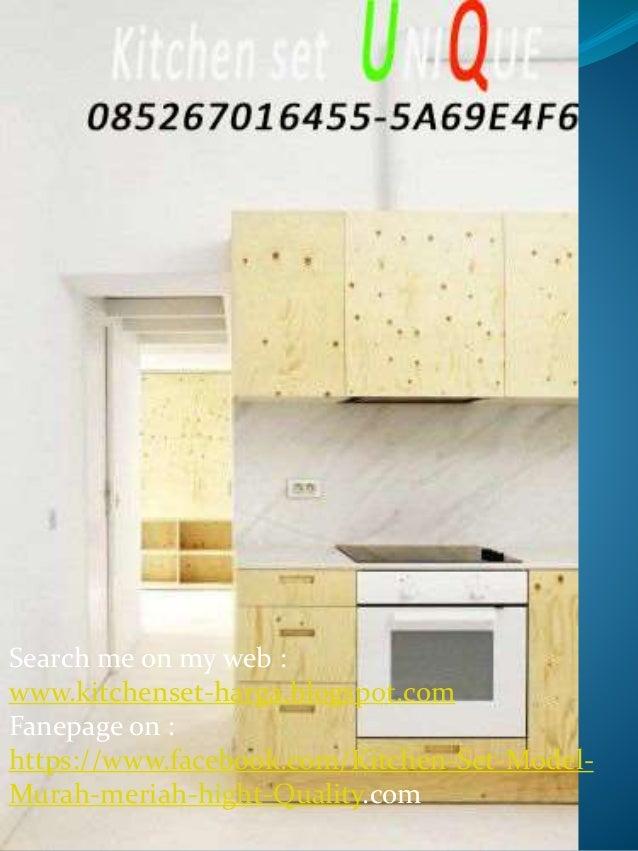 Harga Kitchen Set Untuk Rumah Minimalis Desain Kitchen Set Aluminium