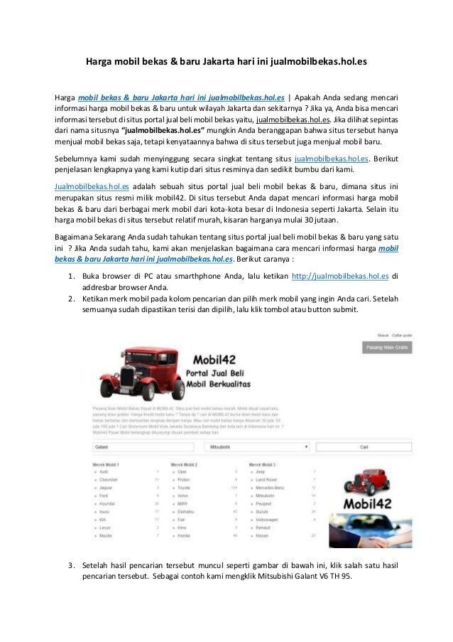 Harga Mobil Bekas Baru Jakarta Hari Ini Jualmobilbekas Hol Es