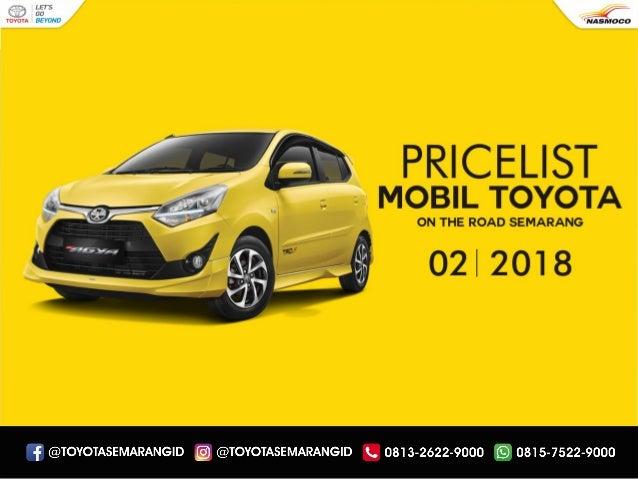 Daftar Harga Mobil Toyota Semarang Terbaru 2018