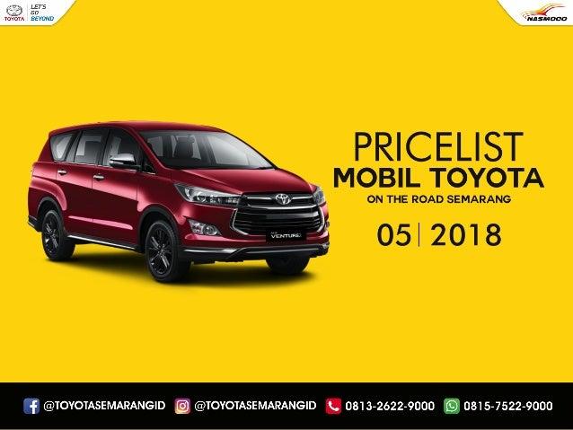 Daftar Harga Mobil Toyota Semarang Terbaru Dealer Nasmoco