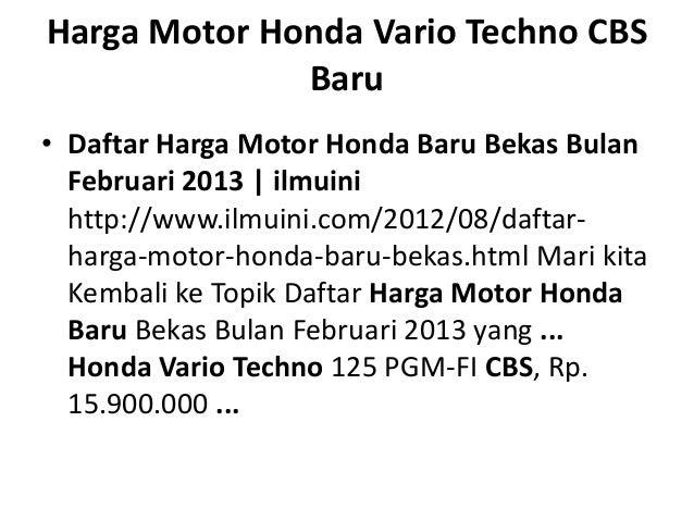 Harga motor honda vario techno cbs baru