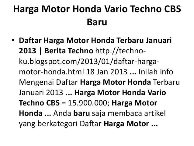 Daftar Harga Vario Techno Html Autos Post