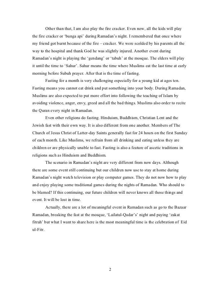 spm essay about hari raya celebration