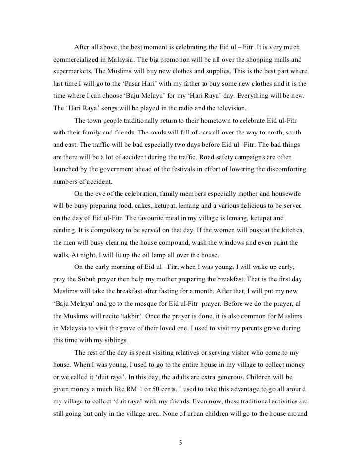 Hari Raya Aidilfitri Festival Essay which