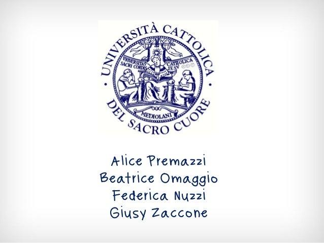 Alice Premazzi Beatrice Omaggio Federica Nuzzi Giusy Zaccone