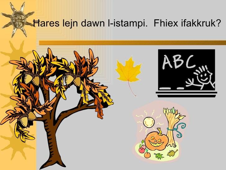 Ħ ares lejn dawn l-istampi.  Fhiex ifakkruk?