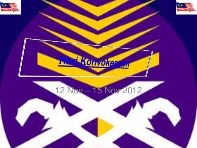 12 Nov – 15 Nov 2012