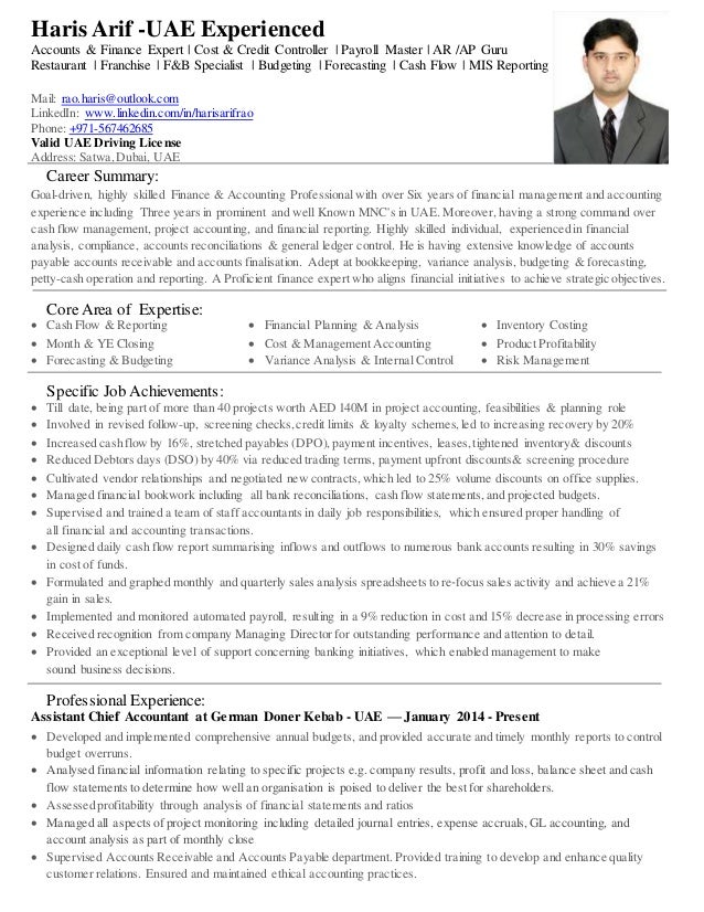 Contemporary Acca Accounting Resume Sketch - Administrative Officer ...