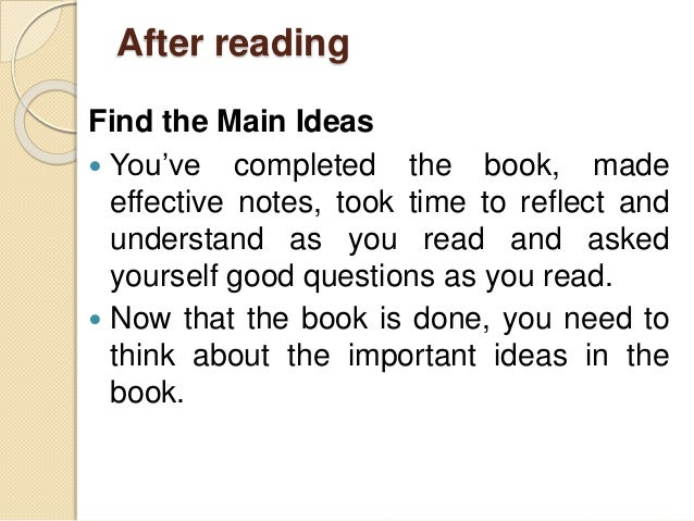... 13. After Reading Find The Main Ideas ...