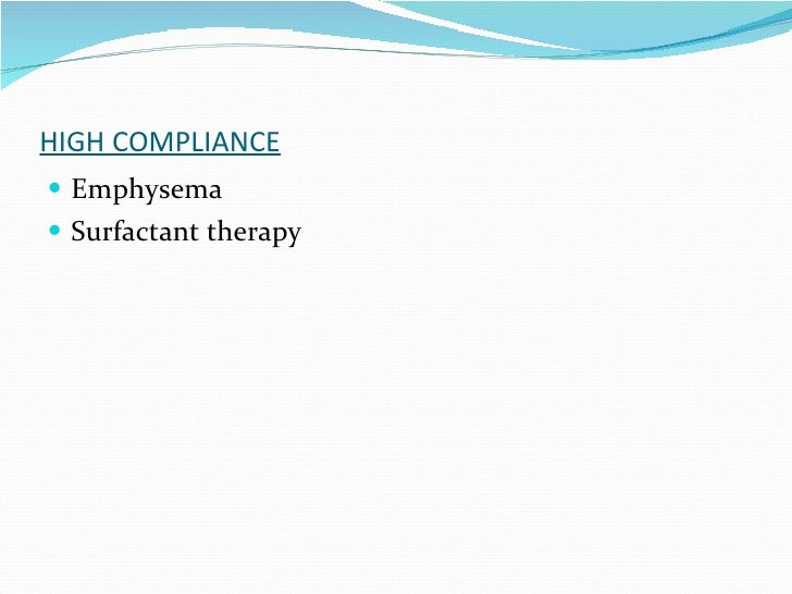 HIGH COMPLIANCE Emphysema Surfactant therapy