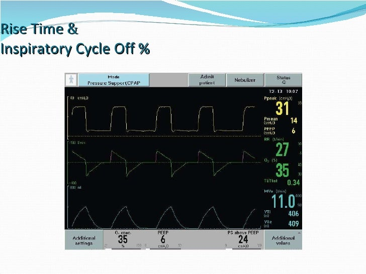 Rise Time  &   Inspiratory Cycle Off %