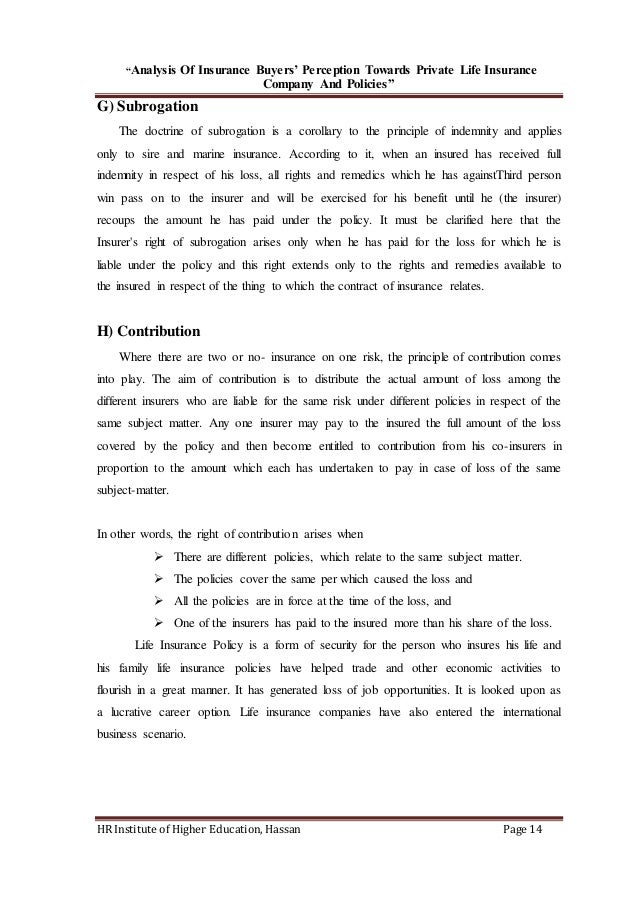 an analysis of the philosophy and perception in life 3- 1 chapter three: research methodology 31 introduction the way in which research is conducted may be conceived of in terms of the research philosophy subscribed to, the research strategy employed and so the.