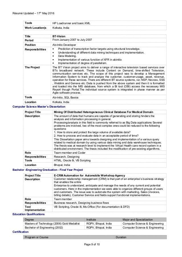 sr performance testing consultant