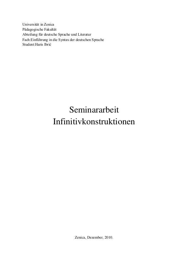 Universität in Zenica Pädagogische Fakultät Abteilung für deutsche Sprache und Literatur Fach:Einführung in die Syntax der...