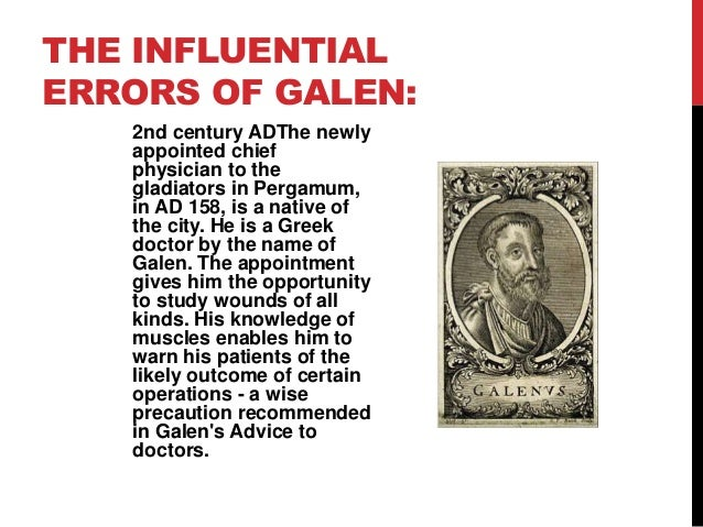 Image result for Galen was a 2nd-century Greek doctor pic