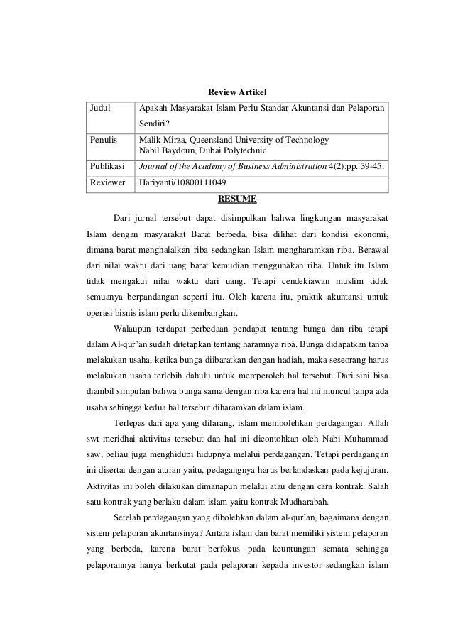 Contoh Review Jurnal Ilmiah