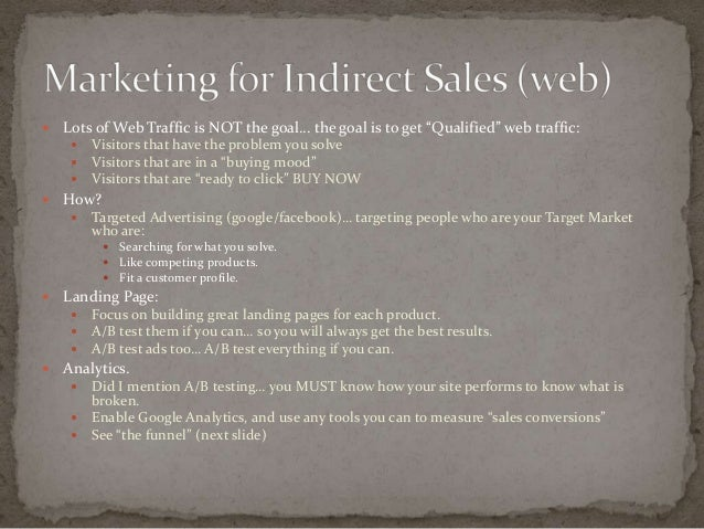 sales and marketing basics Most businesses (online and off) just get the basics wrong so here's what  s-  good stuff it works in sales (my forte) as well as marketing.