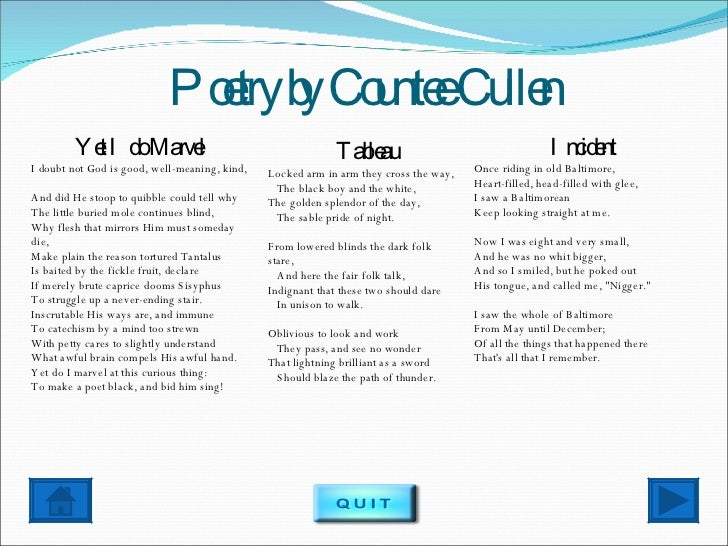 Countee Cullen Quotes