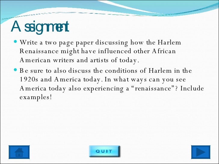 the literature of the harlem renaissance essay Harlem renaissance the harlem renaissance was the cultural front of the  on  the harlem renaissance: essays on race, gender, and literary discourse.
